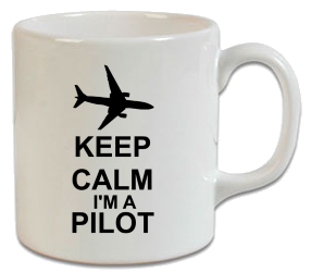 Keep Calm I Am Pilot Kupa