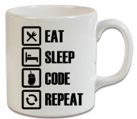Eat Sleep Code Repeat – -Yazılım Kupa