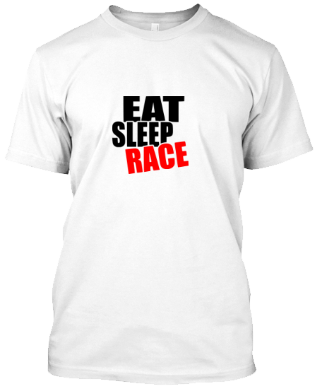 Eat Sleep Race Motosiklet T-Shirt
