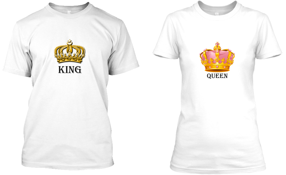 King & Queen Tshirt 2'li Set