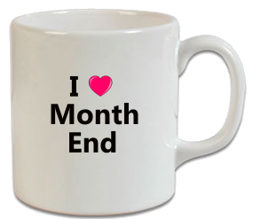 I Love Month End Muhasebeci Kupa
